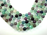 Fluorite Beads, Rainbow Fluorite, Round, 14mm-BeadBeyond