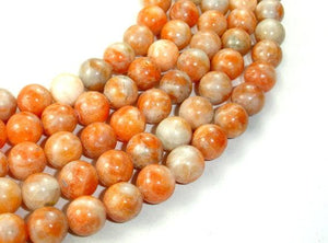 Orange Calcite Beads, Round, 10mm-BeadBeyond