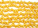 Fresh Water Pearl Beads, Gold, Top drilled, Dancing beads-BeadBeyond