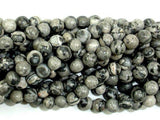 Gray Picture Jasper Beads, Round, 4mm-BeadBeyond