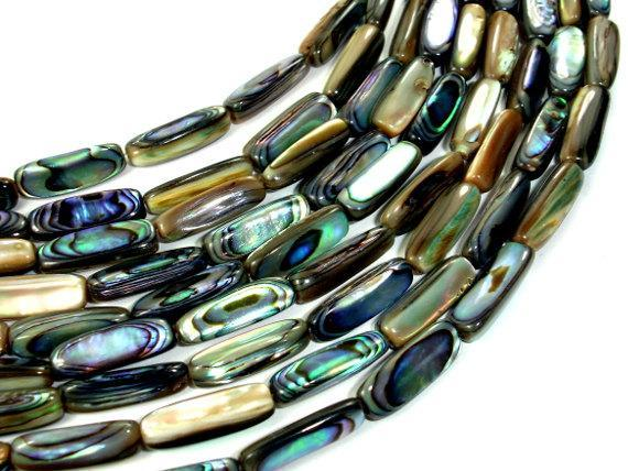 Abalone Beads, Stick, Approx 5x16mm, 16 inch-BeadBeyond