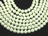 Lemon Chrysoprase Beads, Round, 14mm-BeadBeyond