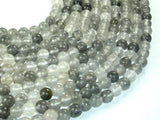 Gray Quartz Beads, Round, 6mm-BeadBeyond