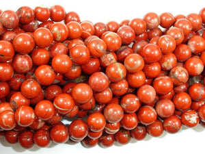 Red Jasper Beads, Round, 8mm-BeadBeyond