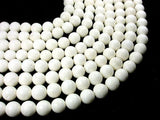 White Sponge Coral Beads, Round, 12mm-BeadBeyond