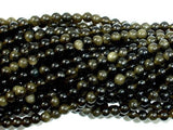 Golden Obsidian Beads, Round, 4mm-BeadBeyond