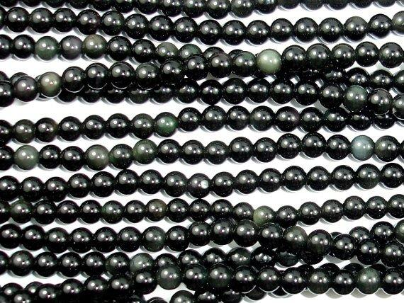 Rainbow Obsidian Beads, Round, 4mm-BeadBeyond
