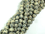 Matte Dalmation Jasper Beads, Round, 8mm-BeadBeyond