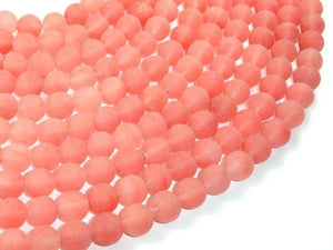 Matte Cherry Quartz Beads, Round, 10mm-BeadBeyond