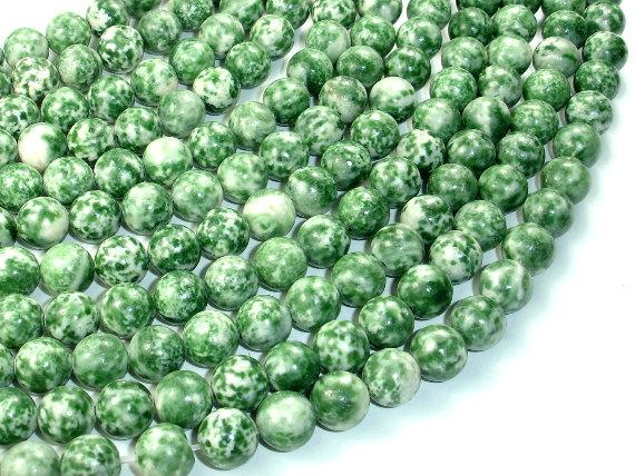 Green Spot Jasper Beads, Round, 10mm-BeadBeyond