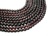 Red Garnet Beads, Round, 11mm-BeadBeyond