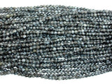 Black Labradorite Beads, Faceted Round, 4mm, 14.5 Inch-BeadBeyond