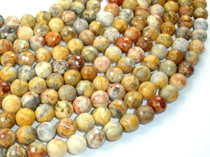 Crazy Lace Agate Beads, Faceted Round, 10mm-BeadBeyond
