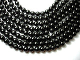 Jet Gemstone Beads, Round, 14mm-BeadBeyond