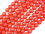 Red Howlite Beads, 10mm Round Beads-BeadBeyond