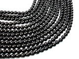 Black Onyx Beads, 8mm Round-BeadBeyond