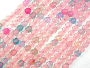 Agate Beads, 4mm Faceted Round, 14.5 Inch-BeadBeyond