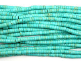 Turquoise Howlite Beads, 2x4mm Heishi Beads-BeadBeyond