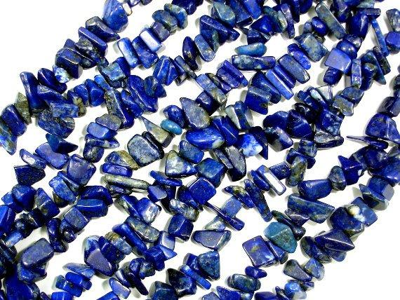 Lapis Lazuli Beads, 5-9mm Chips, 34 Inch, Full strand