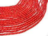 Red Bamboo Coral Beads, 5.5x8mm Peanut Beads-BeadBeyond