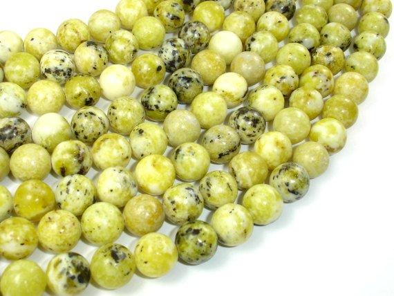 Yellow Turquoise Beads, 10mm Round Beads-BeadBeyond