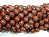 Red Sesame Jasper Beads, 8mm Round Beads-BeadBeyond