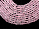 Rose Quartz, 5 x 8mm Faceted Rondelle Beads-BeadBeyond