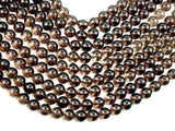 Smoky Quartz, 12mm Round Beads-BeadBeyond