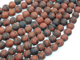 Matte Mahogany Obsidian, 8mm Round Beads-BeadBeyond