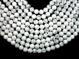 White Howlite, Round beads, 12mm-BeadBeyond
