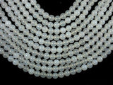 White Agate, 8 mm (8.4 mm) Round Beads-BeadBeyond