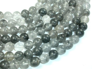 Gray Quartz, 10mm, Round Beads-BeadBeyond