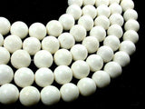 White Sponge Coral Beads, 15mm Round Beads-BeadBeyond