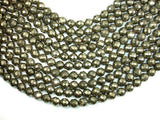 Pyrite Beads, Faceted Round, 10mm-BeadBeyond
