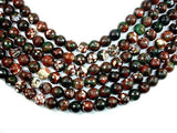 Agate Beads, 12mm Faceted Round, 14.5 Inch, Full strand