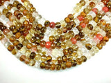 Fire Cherry Quartz, 10mm x 14mm Faceted Rondelle Beads-BeadBeyond
