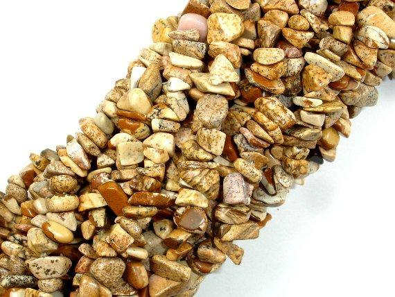 Picture Jasper, 4mm - 9mm Chips Beads, Long full strand-BeadBeyond