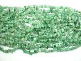 Green Aventurine, 4-9 mm Chips Beads, Long Strand-BeadBeyond