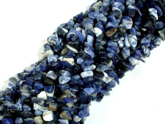 Sodalite, 4mm - 9mm Chips Beads-BeadBeyond