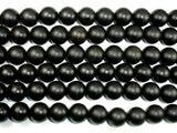 Matte Black Stone, 20mm Round Beads-BeadBeyond