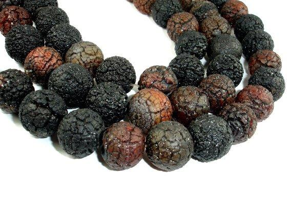 Cracked Agate, 18-19 mm Round Beads-BeadBeyond