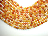 Genuine Old Yellow Jade Beads, Round, 8mm-BeadBeyond