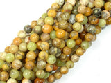 Dendritic Opal Beads, Yellow Moss Opal Beads, 6mm Round Beads-BeadBeyond