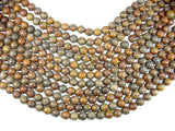 Bamboo Leaf Jasper Beads, 10 mm Round Beads-BeadBeyond