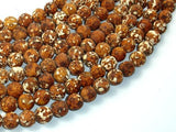 Tibetan Dzi Agate Beads, 10mm Round Beads-BeadBeyond