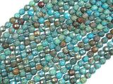 Blue Calsilica Jasper Beads, 4mm Faceted Round Beads-BeadBeyond