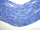 Frosted Matte Agate - Blue, 6mm Round Beads-BeadBeyond