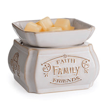 Load image into Gallery viewer, Faith, Family, Friends 2-in-1 Classic Fragrance Warmer