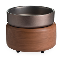 Load image into Gallery viewer, Pewter Walnut 2-in-1 Classic Fragrance Warmer