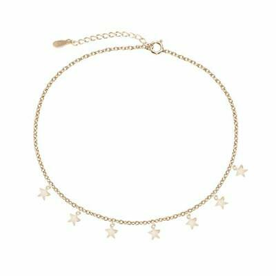 Gold Silver Plated Star Chain Choker